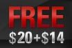 $20+$14 gratis geld-aanbieding bij PokerStars