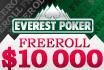 Kwalificatieperiode voor de $10.000 freeroll bij Everest Poker verlengd!