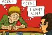 Poker Cartoon - Aces